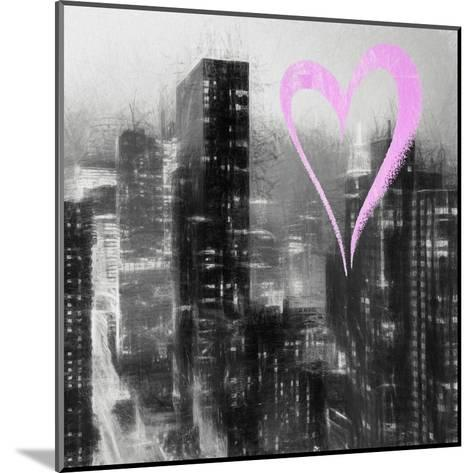 Luv Collection - New York City - Manhattan by Night II-Philippe Hugonnard-Mounted Giclee Print