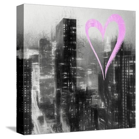 Luv Collection - New York City - Manhattan by Night II-Philippe Hugonnard-Stretched Canvas Print