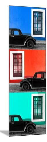 ¡Viva Mexico! Panoramic Collection - Three Black VW Beetle Cars XVII-Philippe Hugonnard-Mounted Photographic Print