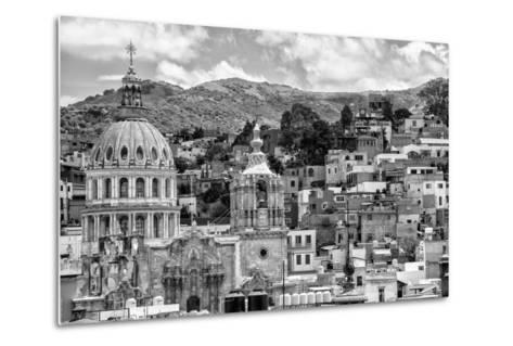 ¡Viva Mexico! B&W Collection - Guanajuato Cityscape-Philippe Hugonnard-Metal Print