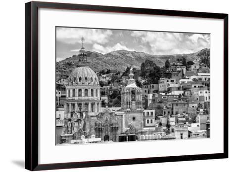 ¡Viva Mexico! B&W Collection - Guanajuato Cityscape-Philippe Hugonnard-Framed Art Print