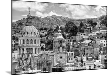¡Viva Mexico! B&W Collection - Guanajuato Cityscape-Philippe Hugonnard-Mounted Photographic Print