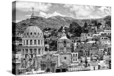 ¡Viva Mexico! B&W Collection - Guanajuato Cityscape-Philippe Hugonnard-Stretched Canvas Print