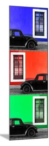 ¡Viva Mexico! Panoramic Collection - Three Black VW Beetle Cars XV-Philippe Hugonnard-Mounted Photographic Print