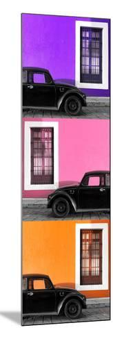 ¡Viva Mexico! Panoramic Collection - Three Black VW Beetle Cars XIV-Philippe Hugonnard-Mounted Photographic Print