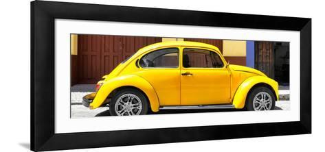 ¡Viva Mexico! Panoramic Collection - The Yellow Beetle Car-Philippe Hugonnard-Framed Art Print