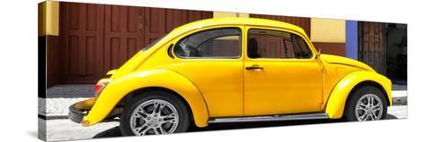 ¡Viva Mexico! Panoramic Collection - The Yellow Beetle Car-Philippe Hugonnard-Stretched Canvas Print