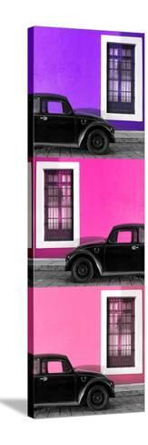 ¡Viva Mexico! Panoramic Collection - Three Black VW Beetle Cars XXIII-Philippe Hugonnard-Stretched Canvas Print