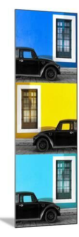 ¡Viva Mexico! Panoramic Collection - Three Black VW Beetle Cars XX-Philippe Hugonnard-Mounted Photographic Print