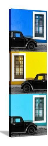 ¡Viva Mexico! Panoramic Collection - Three Black VW Beetle Cars XX-Philippe Hugonnard-Stretched Canvas Print