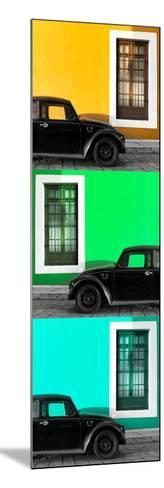 ¡Viva Mexico! Panoramic Collection - Three Black VW Beetle Cars XXI-Philippe Hugonnard-Mounted Photographic Print
