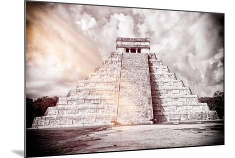 ?Viva Mexico! B&W Collection - Chichen Itza Pyramid XII-Philippe Hugonnard-Mounted Photographic Print