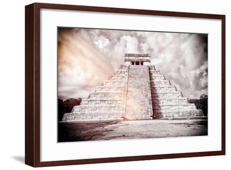 ?Viva Mexico! B&W Collection - Chichen Itza Pyramid XII-Philippe Hugonnard-Framed Art Print
