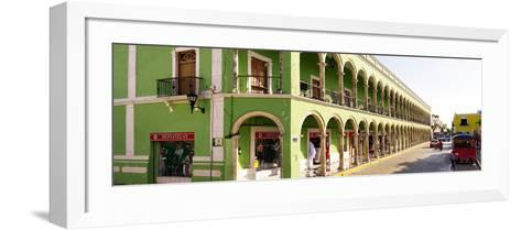 ¡Viva Mexico! Panoramic Collection - Campeche Architecture-Philippe Hugonnard-Framed Art Print