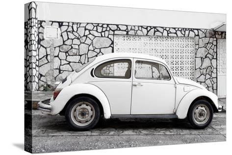 ¡Viva Mexico! Collection - White VW Beetle Car-Philippe Hugonnard-Stretched Canvas Print