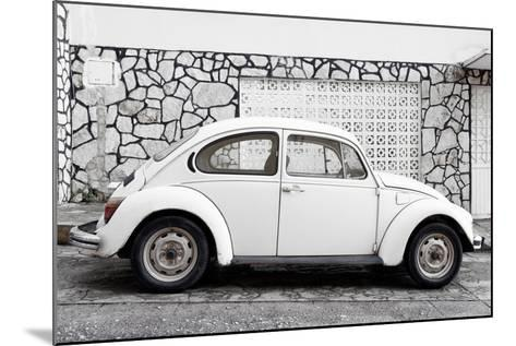 ¡Viva Mexico! Collection - White VW Beetle Car-Philippe Hugonnard-Mounted Photographic Print