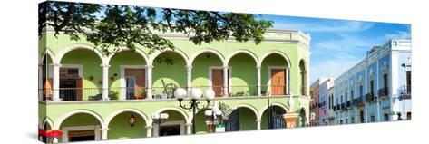 ¡Viva Mexico! Panoramic Collection - Campeche Architecture VI-Philippe Hugonnard-Stretched Canvas Print