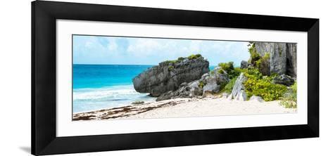 ¡Viva Mexico! Panoramic Collection - Caribbean Coastline in Tulum-Philippe Hugonnard-Framed Art Print