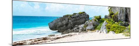 ¡Viva Mexico! Panoramic Collection - Caribbean Coastline in Tulum-Philippe Hugonnard-Mounted Photographic Print