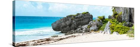 ¡Viva Mexico! Panoramic Collection - Caribbean Coastline in Tulum-Philippe Hugonnard-Stretched Canvas Print