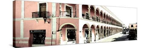 ¡Viva Mexico! Panoramic Collection - Campeche Architecture II-Philippe Hugonnard-Stretched Canvas Print