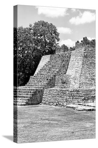 ?Viva Mexico! B&W Collection - Maya Archaeological Site I - Campeche-Philippe Hugonnard-Stretched Canvas Print