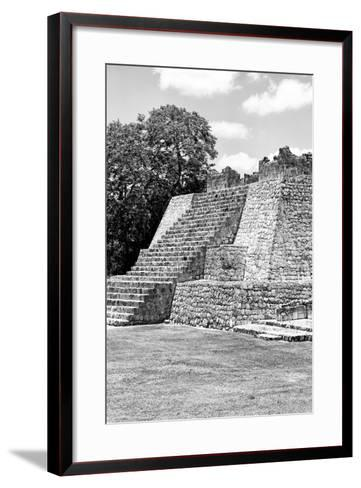 ?Viva Mexico! B&W Collection - Maya Archaeological Site I - Campeche-Philippe Hugonnard-Framed Art Print