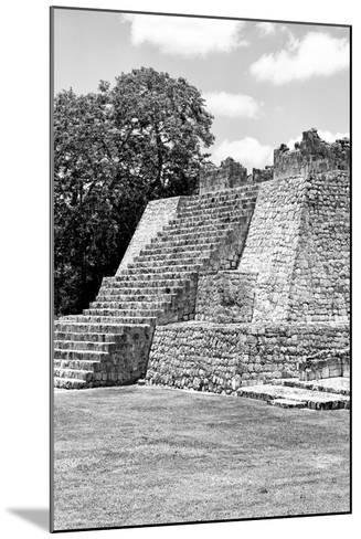 ?Viva Mexico! B&W Collection - Maya Archaeological Site I - Campeche-Philippe Hugonnard-Mounted Photographic Print