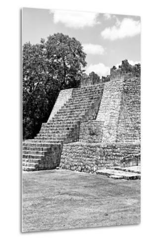 ?Viva Mexico! B&W Collection - Maya Archaeological Site I - Campeche-Philippe Hugonnard-Metal Print