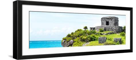 ¡Viva Mexico! Panoramic Collection - Ancient Mayan Fortress in Riviera Maya - Tulum-Philippe Hugonnard-Framed Art Print