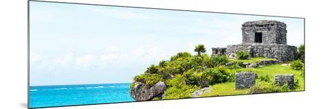 ¡Viva Mexico! Panoramic Collection - Ancient Mayan Fortress in Riviera Maya - Tulum-Philippe Hugonnard-Mounted Photographic Print