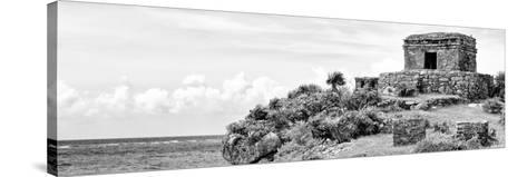 ¡Viva Mexico! Panoramic Collection - Ancient Mayan Fortress in Riviera Maya - Tulum II-Philippe Hugonnard-Stretched Canvas Print