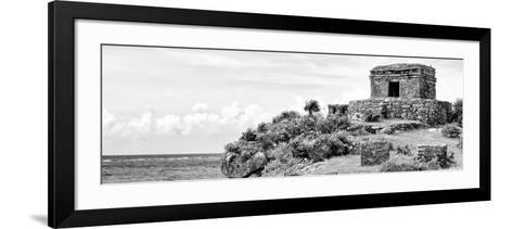 ¡Viva Mexico! Panoramic Collection - Ancient Mayan Fortress in Riviera Maya - Tulum II-Philippe Hugonnard-Framed Art Print