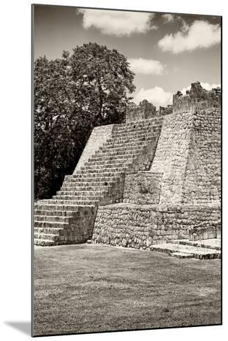?Viva Mexico! B&W Collection - Maya Archaeological Site - Campeche-Philippe Hugonnard-Mounted Photographic Print