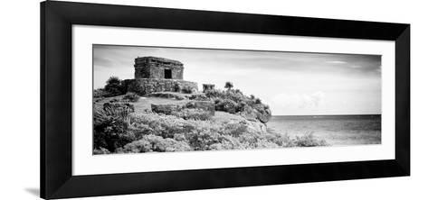 ¡Viva Mexico! Panoramic Collection - Ancient Mayan Fortress in Riviera Maya - Tulum V-Philippe Hugonnard-Framed Art Print