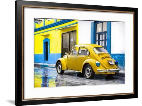 ?Viva Mexico! Collection - VW Beetle and Yellow Wall-Philippe Hugonnard-Framed Art Print