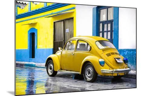 ?Viva Mexico! Collection - VW Beetle and Yellow Wall-Philippe Hugonnard-Mounted Photographic Print