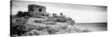 ¡Viva Mexico! Panoramic Collection - Ancient Mayan Fortress in Riviera Maya - Tulum V-Philippe Hugonnard-Stretched Canvas Print