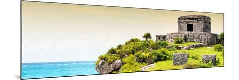 ¡Viva Mexico! Panoramic Collection - Ancient Mayan Fortress in Riviera Maya - Tulum III-Philippe Hugonnard-Mounted Photographic Print