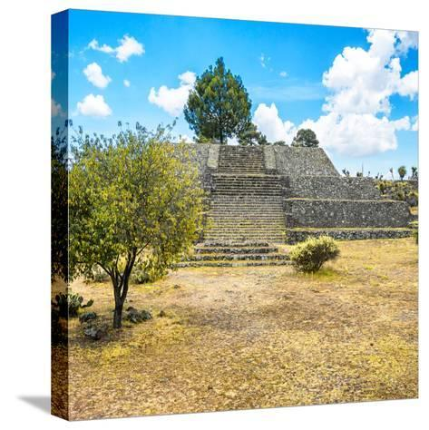¡Viva Mexico! Square Collection - Pyramid of Cantona-Philippe Hugonnard-Stretched Canvas Print