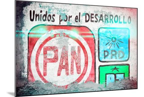 "?Viva Mexico! Collection - ""PAN"" Street Art II-Philippe Hugonnard-Mounted Photographic Print"