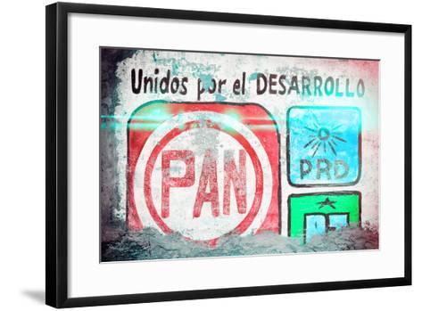 "?Viva Mexico! Collection - ""PAN"" Street Art II-Philippe Hugonnard-Framed Art Print"