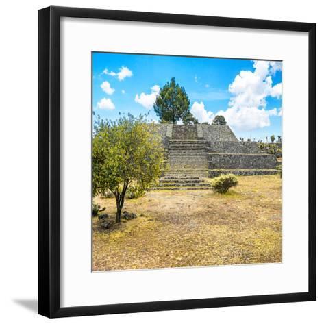 ¡Viva Mexico! Square Collection - Pyramid of Cantona-Philippe Hugonnard-Framed Art Print
