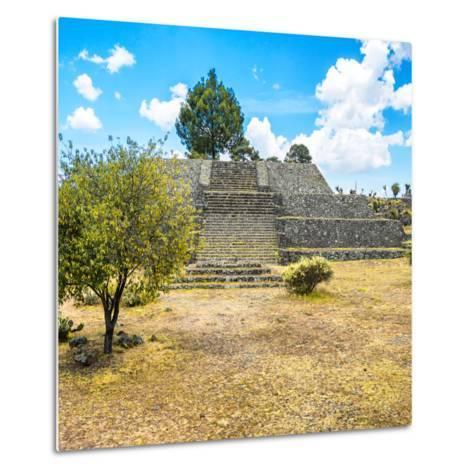 ¡Viva Mexico! Square Collection - Pyramid of Cantona-Philippe Hugonnard-Metal Print
