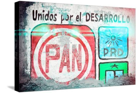"""?Viva Mexico! Collection - """"PAN"""" Street Art II-Philippe Hugonnard-Stretched Canvas Print"""