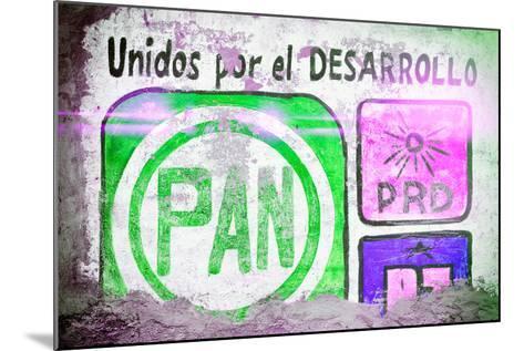 "?Viva Mexico! Collection - ""PAN"" Street Art IV-Philippe Hugonnard-Mounted Photographic Print"