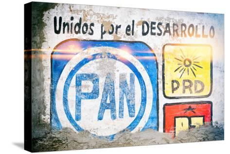 """¡Viva Mexico! Collection - """"PAN"""" Street Art-Philippe Hugonnard-Stretched Canvas Print"""