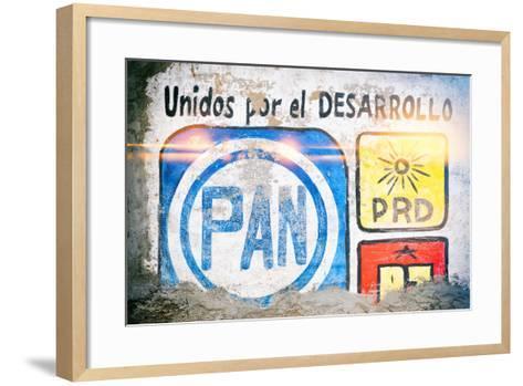 "¡Viva Mexico! Collection - ""PAN"" Street Art-Philippe Hugonnard-Framed Art Print"