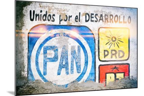 "¡Viva Mexico! Collection - ""PAN"" Street Art-Philippe Hugonnard-Mounted Photographic Print"