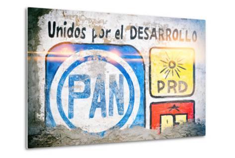 "¡Viva Mexico! Collection - ""PAN"" Street Art-Philippe Hugonnard-Metal Print"